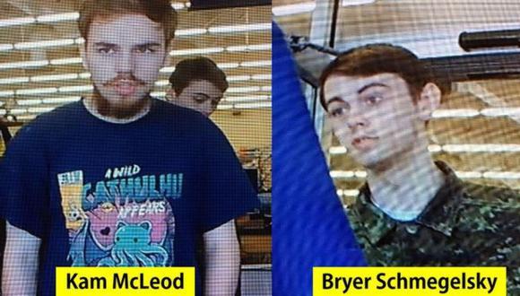 Kam McLeod y Bryer Schmegelsky habían sido vistos el 21 de julio en una tienda. (Foto: RCMP, vía BBC Mundo)