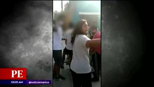 Jóvenes junto a su madre agredieron verbalmente a mujer serenazgo
