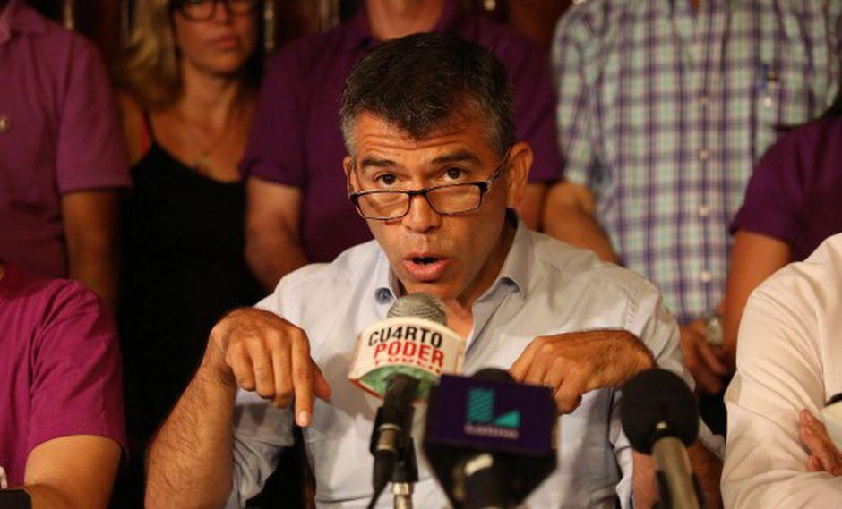 Julio Guzmán afirmó que la situación actual es que un buen comunicador, sin un respaldo político, no puede hacer mucho. (Foto: GEC)
