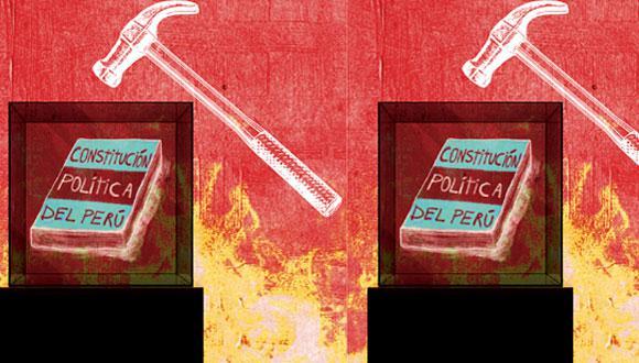 """""""Se habla de cambiar la Constitución para combatir la corrupción. Para ello, bastaría con modificar el Código Penal y los procedimientos de control"""" (Ilustración: Raúl Rodríguez)."""