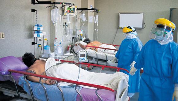 Casi todos los pabellones del hospital Dos de Mayo, que eran de otras especialidades médicas, han sido adaptados para pacientes con coronavirus. (Foto: Hugo Curotto)