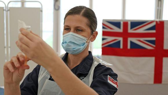 Coronavirus en Reino Unido | Últimas noticias | Último minuto: reporte de infectados y muertos hoy, domingo 14 de marzo del 2021 | Covid-19. (Foto: Adrian DENNIS / AFP).