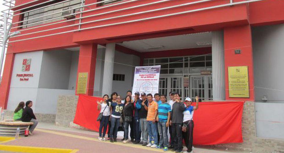 Áncash: trabajadores del Poder Judicial acatan paro de 48 horas