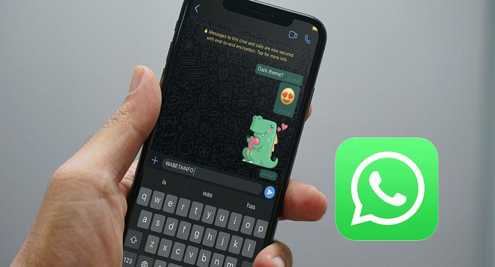 """¿Ya llegó el """"modo oscuro"""" a WhatsApp en los iPhone? Esto es lo que tienes que saber. (Foto: WhatsApp)"""