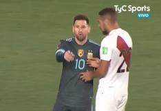 Callens pidió a Messi intercambiar camisetas pero éste le contestó que no porque se la había prometido a Trauco | VIDEO