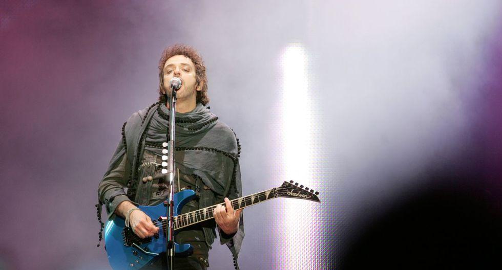 """Gustavo Cerati, durante el concierto, gritó """"Fuerza, Perú"""". Meses antes un terremoto azotó el país. (Foto: Ernesto Arias/ El Comercio)"""