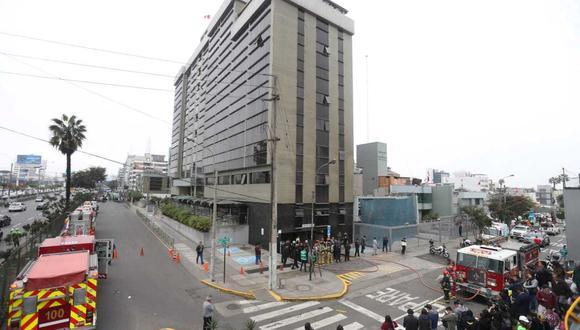 Explosión en la clínica Ricardo Palma (Foto: El Comercio/Hugo Pérez)
