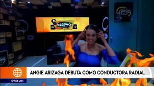 Angie Arizaga debutó como locutora en popular programa de radio