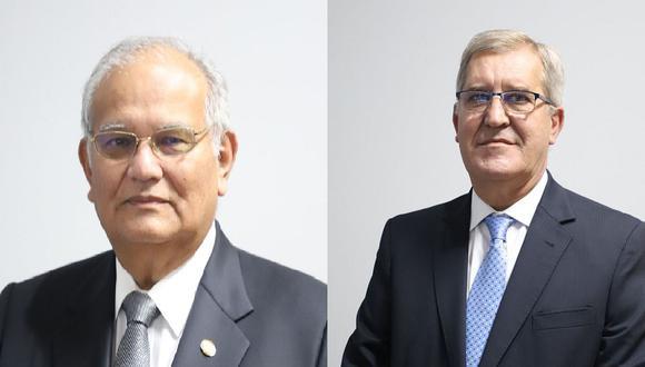 Jorge Alva Hurtado (izquierda) y Antonio Abruña (derecha) serán miembros titulares de la comisión especial que seleccionará a la JNJ. (Foto: Difusión)