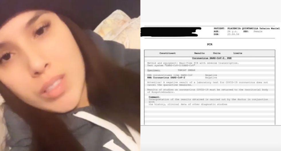 Yahaira Plasencia confirma que no tiene COVID-19. (Foto: Captura Instagram)