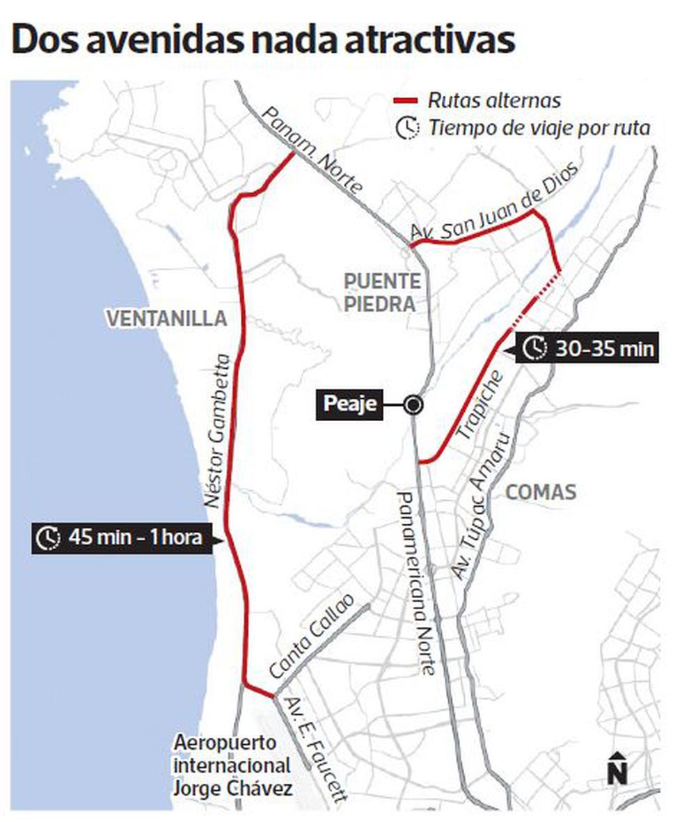 El vía crucis para esquivar el peaje de Puente Piedra - 2
