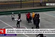 Surco: jóvenes graban videoclip aglomerados y sin mascarilla