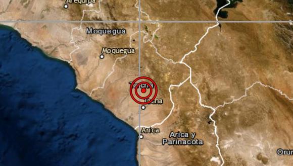 De acuerdo con el IGP, el epicentro de este movimiento telúrico se ubicó a 20 kilómetros al noroeste de Alto de la Alianza. (Foto: IGP)