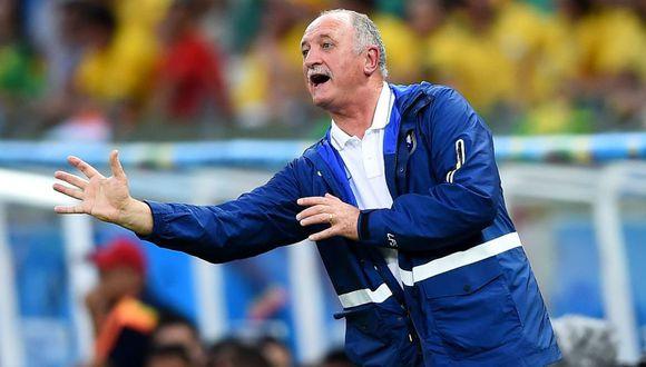 Luiz Felipe Scolari dirigió por última vez al Palmeiras brasileño. (Foto: AFP)