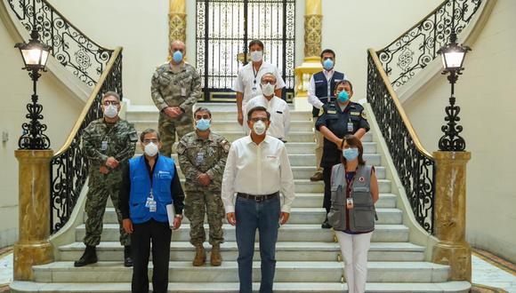 De acuerdo con el mandatario, el fin de la creación de este comando es para tener una respuesta unificada y articulada en todo el sistema de salud. El Minsa, EsSalud, las Fuerzas Armadas, la Policía Nacional del Perú (PNP), entre otras instituciones, serán parte de esta organización.  (Foto Twitter)