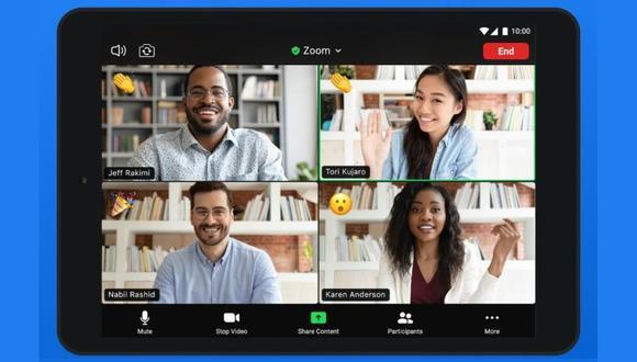 Zoom es una aplicación para dispositivos móviles y computadoras. (Difusión)