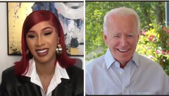 Cardi B entrevistó a Joe Biden para la revista Elle, en esta hablaron sobre el racismo y la salud pública. (Captura de pantalla / YouTube).