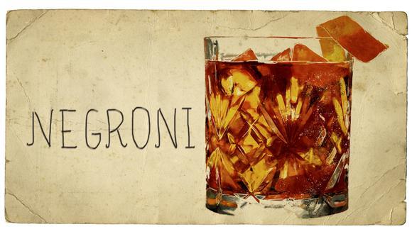Este 2019 se celebran 100 años de creación del clásico italiano a base de gin, Campari y vermut. (Ilustraciones: Verónica Calderón Chui)
