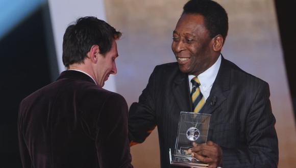 Lionel Messi y Pelé se acercan a través de Instagram (Foto: AFP)