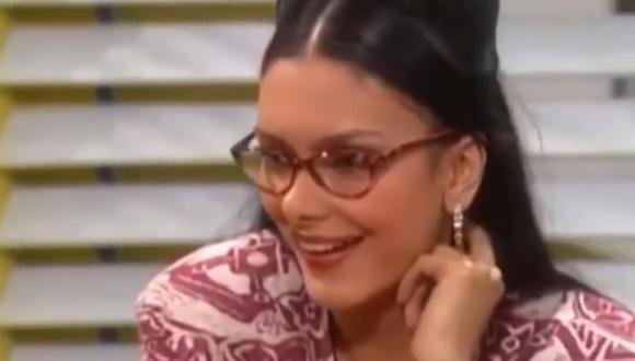 Sandra Patiño, conocida como la Jirafa, destacaba por su altura en la telenovela.(Foto: RCN)