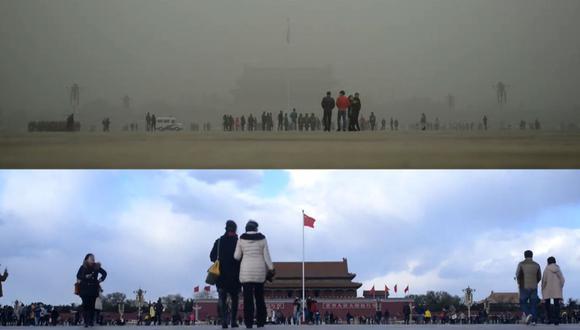 (Al fin) cielo azul en Beijing [VIDEO]