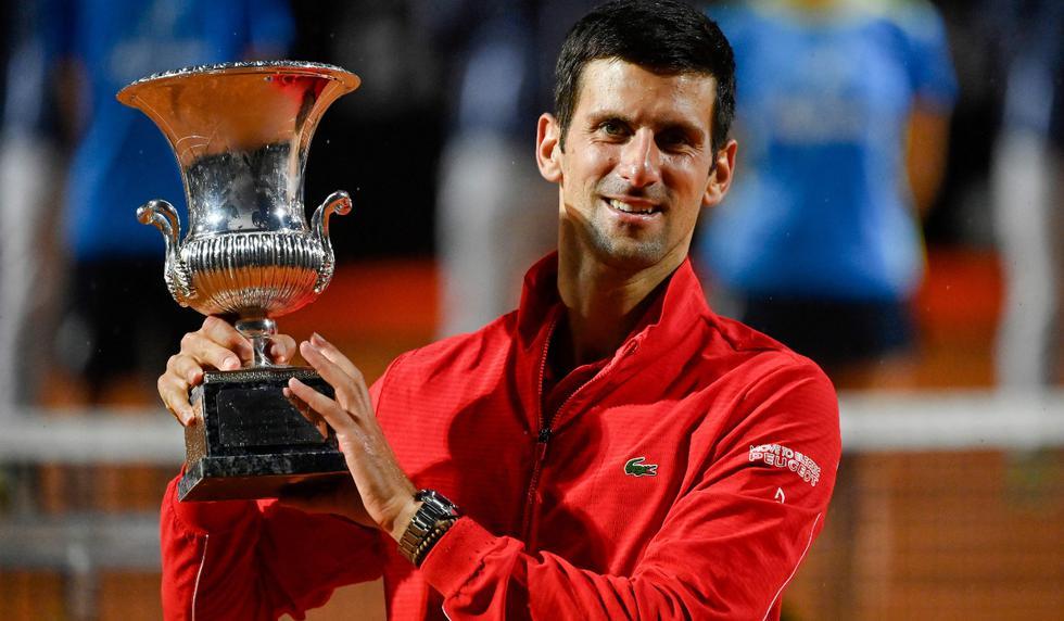 Novak Djokovic celebrando su quinto título en el Masters 1000 de Roma | Foto: AFP