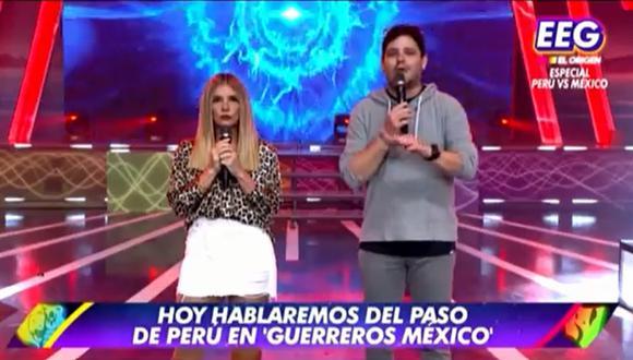 """Conductores de """"Esto es guerra"""" envían mensaje a México tras fuerte terremoto. (Foto: Captura América TV)."""