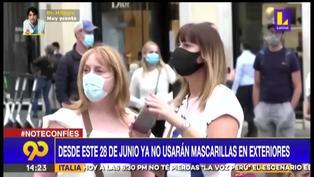 Italia: uso de mascarillas no será obligatorio al aire libre desde el 28 de junio
