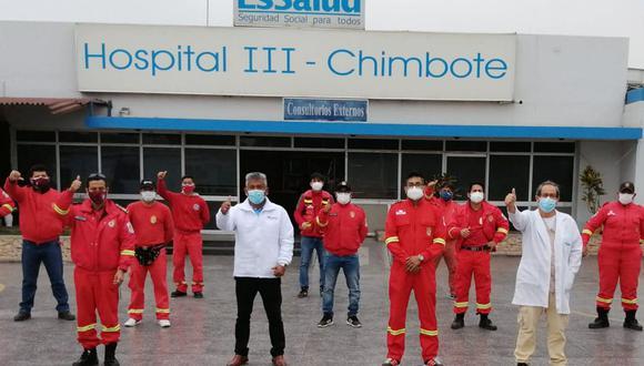 Áncash: bomberos de dos compañías pasaron por pruebas moleculares de manera gratuita (Foto: Andina)