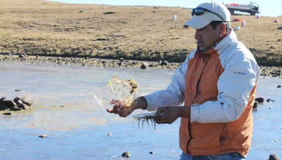 Lagunas congeladas y niños enfermos en distrito de Andahuaylas