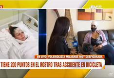 Milagros Moy: voleibolista terminó con 200 puntos en el rostro tras impactar con árbol cuando manejaba bicicleta