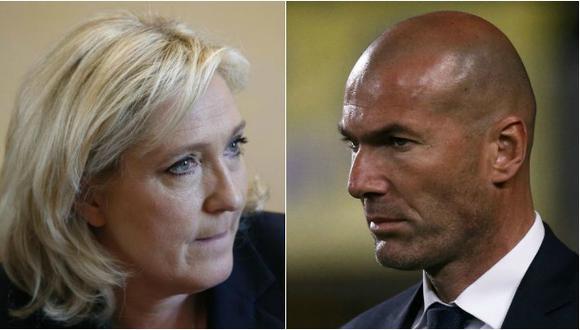 """Le Pen: """"Con lo que gana Zidane, es normal que vote por Macron"""""""
