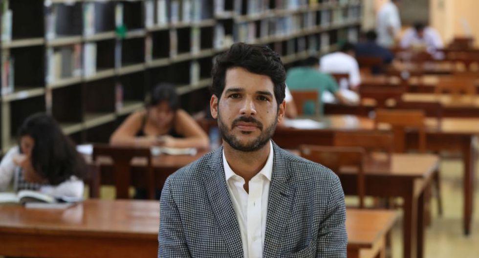"""Neyra Magagna: """"Vamos a impulsar las medidas para evitar los robos en la biblioteca"""". (Foto: Rolly Reyna)"""