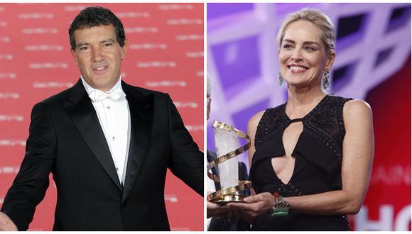 ¿Antonio Banderas y Sharon Stone en coqueteos?