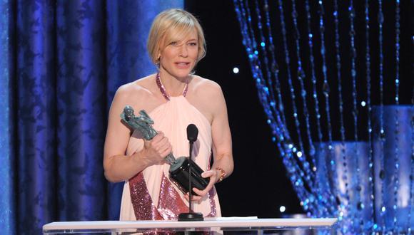 Le cortan el discurso a Cate Blanchett y ella reacciona así
