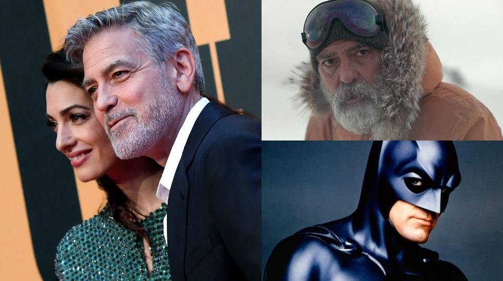 """A la izquierda el actor George Clooney y su esposa Amal Clooney, activista y abogada libanesa especializada en derecho internacional, derechos humanos y extradición. El actor se ha mantenido activo desde finales de la década de 1970 y, además de interpretar roles icónicos como el de Batman en la década de 1990; sigue en el negocio con títulos como el reciente """"Cielo de medianoche"""" (2020). Fotos: Tiziana Fabi para AFP/ Netflix/ Warner Bros."""