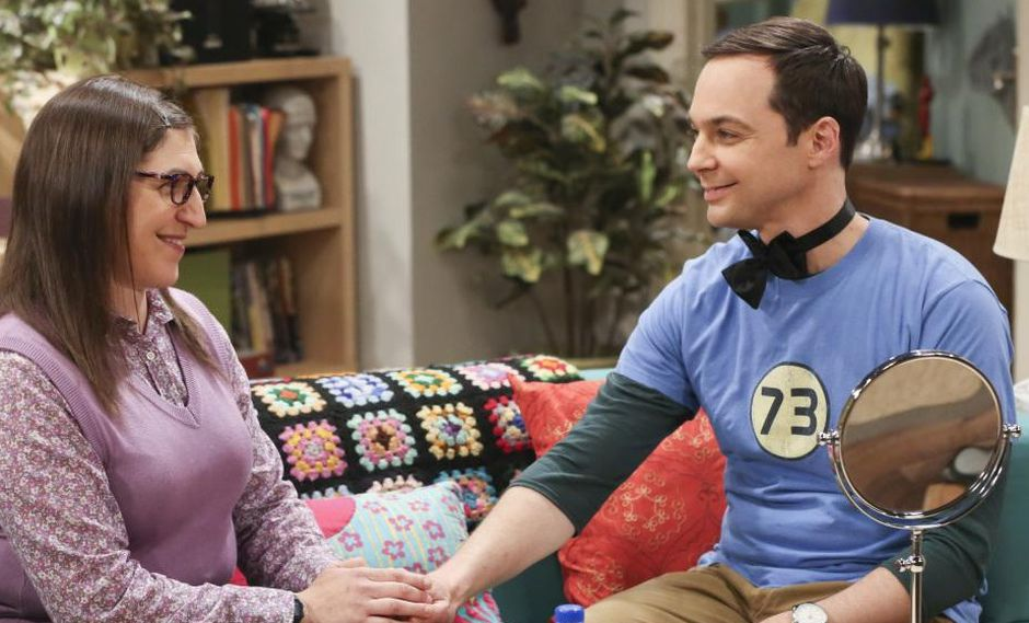 """The Big Bang Theory"". Sheldon y Amy en una foto promocional del último episodio de la temporada 11. (Fuente: CBS)"