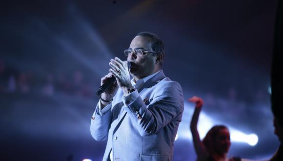 Gilberto Santa Rosa durante su última presentación en Lima. (Foto: Grupo El Comercio)