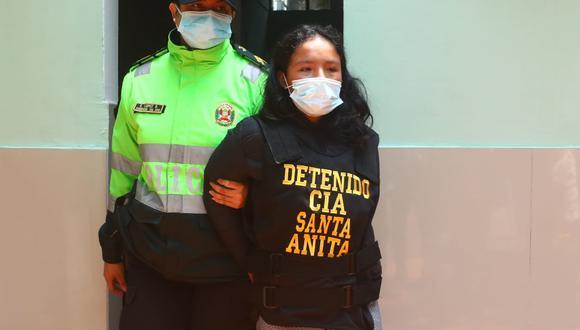 Elsa Salvatierra (21) actuó en complicidad con su conviviente. (Foto: Gonzalo Córdova)