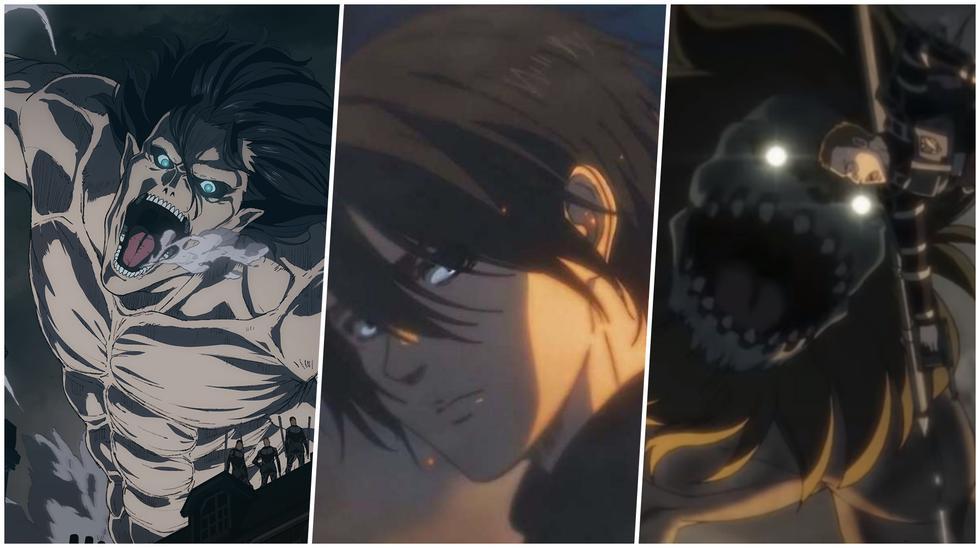 """Eren, Mikasa, Armin y los demás personajes tendrán que elegir un bando en los nuevos, y últimos, episodios de """"Attack on Titan"""". Fotos: Mappa."""