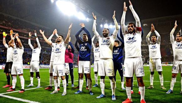 Olympique Lyon estaba en el séptimo puesto con 40 puntos, a 9 unidades de lugares de clasificación a torneos internacionales. (Foto: AFP)