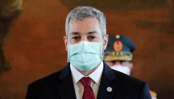 El presidente de Paraguay, Mario Abdo Benítez, durante un evento en el Palacio López en Asunción, Paraguay. (Foto: REUTERS / Cesar Olmedo).