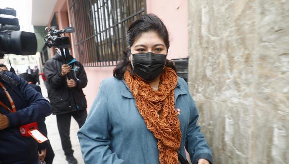 La congresista Betssy Chávez indicó que en los próximos días presentarán el proyecto de reforma constitucional. (Foto: archivo GEC)