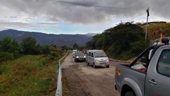 El tránsito fue restablecido en la vía. (Foto: Difusión)