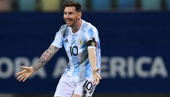 Lionel Messi comparte su felicidad en la selección de Argentina. (Foto: EFE)