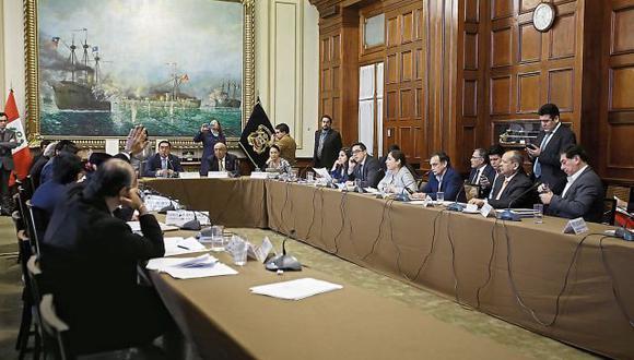 A diferencia de la anterior sesión de la Comisión de Justicia, ayer sí hubo quórum al votar el predictamen de reforma del CNM; sin embargo, no tuvo los votos requeridos. (Foto: Jessica Vicente)