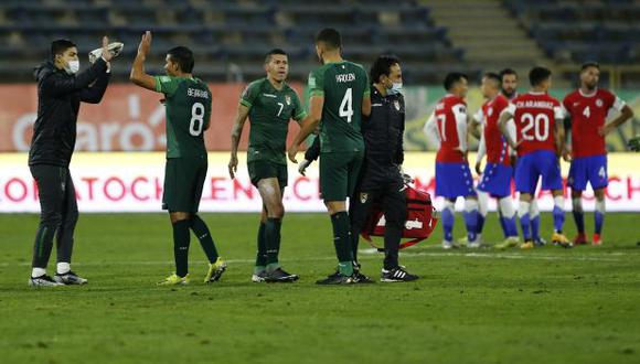 La selecciones de Chile y Bolivia se verán las caras este viernes en Cuiabá por la Copa América 2021. (Foto: AFP)