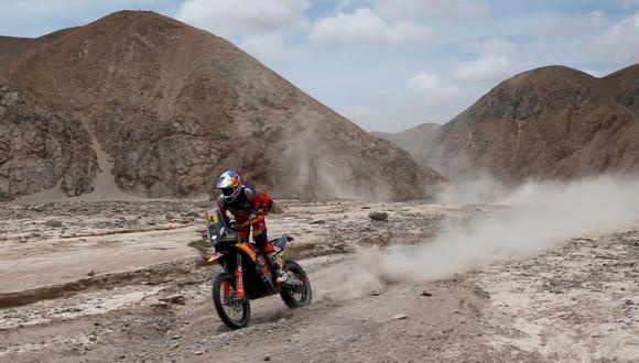Dakar 2019: Sunderland se impone a De Soultrait en motos en la Quinta Etapa. (Foto: AFP)