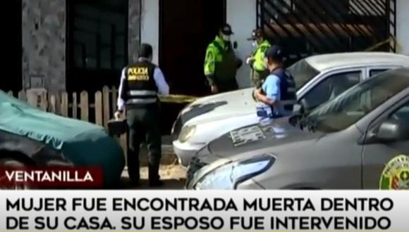 Mujer fue encontrada sin vida dentro de su vivienda en Ventanilla. (Captura: América Noticias)