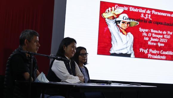 La candidata presidencial de Fuerza Popular, Keiko Fujimori, sembró dudas sobre los resultados de las elecciones la noche del lunes en conferencia de prensa. (Foto: Hugo Pérez | GEC)